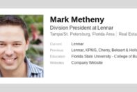 lennar executives meet in home westshore yacht club mark metheny division president