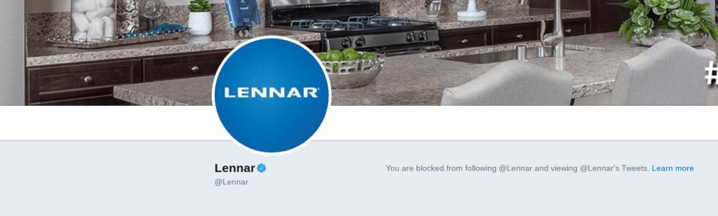 lennar reviews customer care twitter block