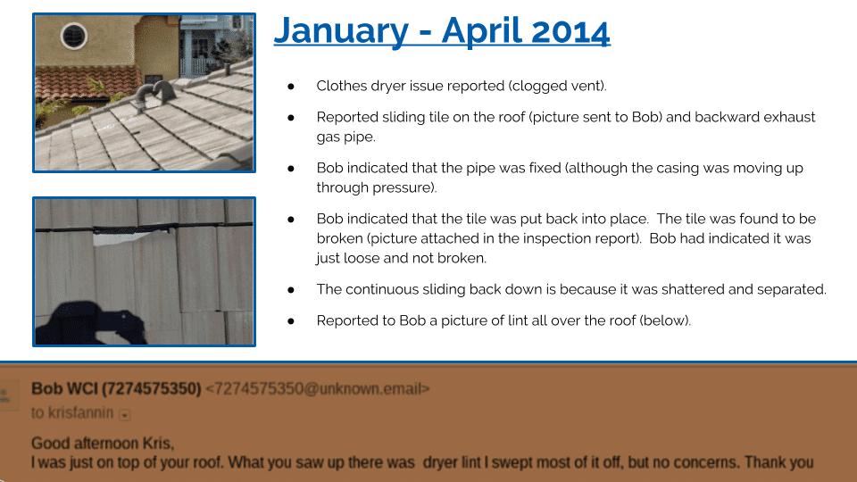 Lennar: Fire Hazard vs Roof Leak | My Lennar Home