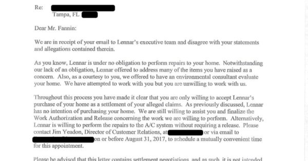 lennar ceo s unbelievable response to email my lennar home