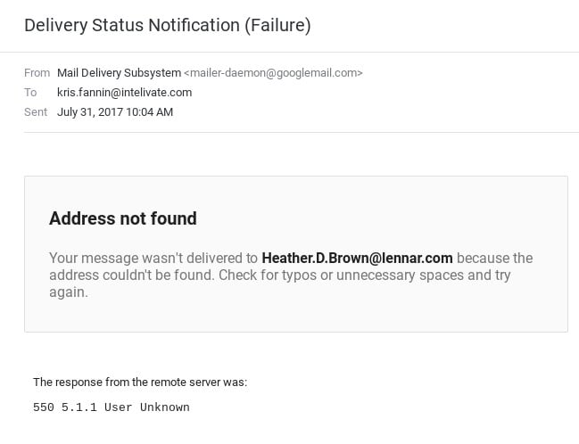 mark metheny assistant undeliverable email july 31 2017