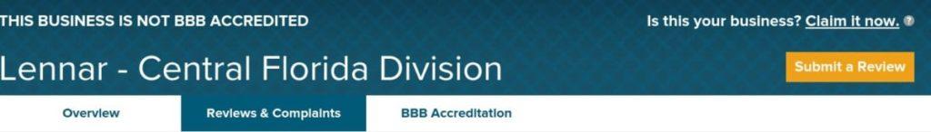 lennar homes reviews better business bureau submit a Lennar review